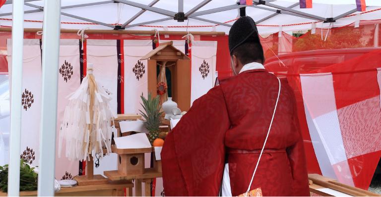島田市・藤枝市のマイホームの地鎮祭